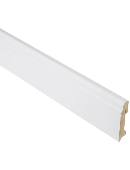 FN NEUHOFER HOLZ Sockelleiste, Uni weiß, MDF, LxHxT: 240 x 9 x 1,8 cm