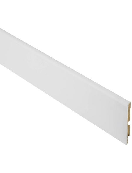 FN NEUHOFER HOLZ Sockelleiste, Uni weiß, MDF, LxHxT: 240 x 9,8 x 0,95 cm