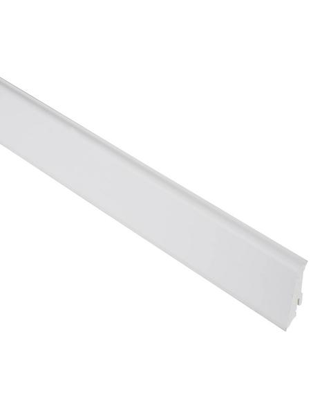 FN NEUHOFER HOLZ Sockelleiste, Uni weiß, PVC, LxHxT: 240 x 5,9 x 1,7 cm