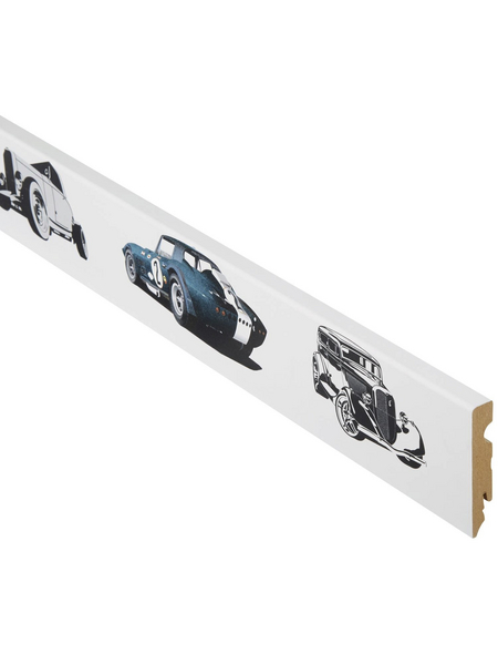 FN NEUHOFER HOLZ Sockelleiste, weiß/bunt, MDF, LxHxT: 240 x 8 x 1,5 cm
