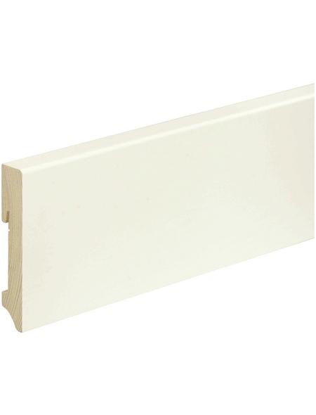 FN NEUHOFER HOLZ Sockelleiste, weiß, Kiefernholz, LxHxT: 240 x 9,6 x 1,8 cm