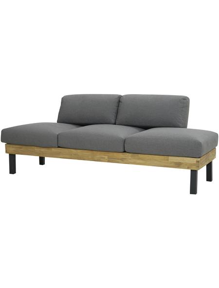 Sofa, BxHxT: 195 x 68 x 75 cm, Teakholz