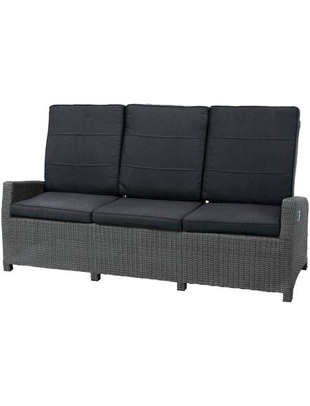 Sofa, BxHxT: 210 x 110 x 84 cm, Polyrattan