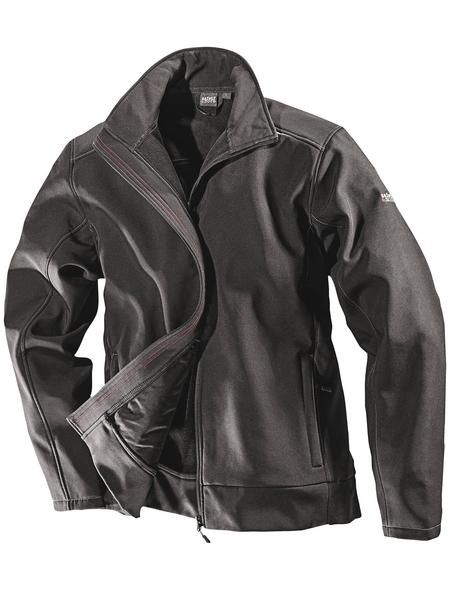 SAFETY AND MORE Softshell-Jacke, Polyester | Elastan, Schwarz, XL