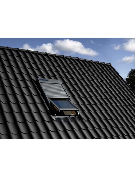 VELUX Solar-Rollladen »SSL FK04 0000S«, dunkelgrau, für VELUX Dachfenster, inkl. Funk-Wandschalter