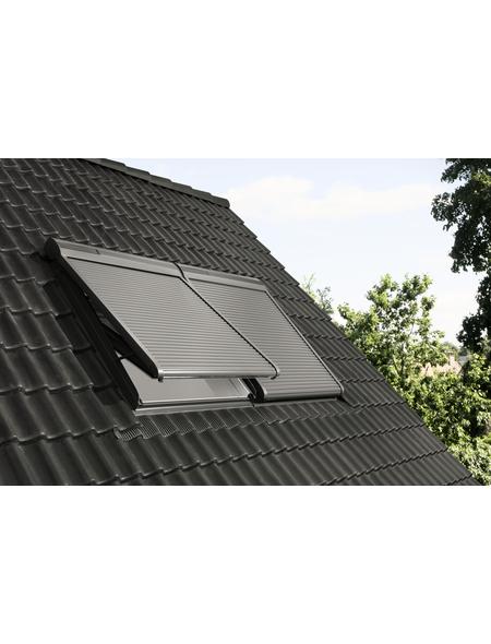 VELUX Solar-Rollladen »SSL YK85 0000S«, dunkelgrau, für VELUX Dachfenster, inkl. Funk-Wandschalter