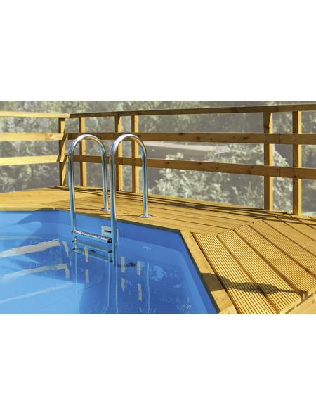 WEKA Sonnendeck, Nadelholz, natur, passend für Holz-Schwimmbecken Art.-Nr.: 1058449, 1058190, 1058191