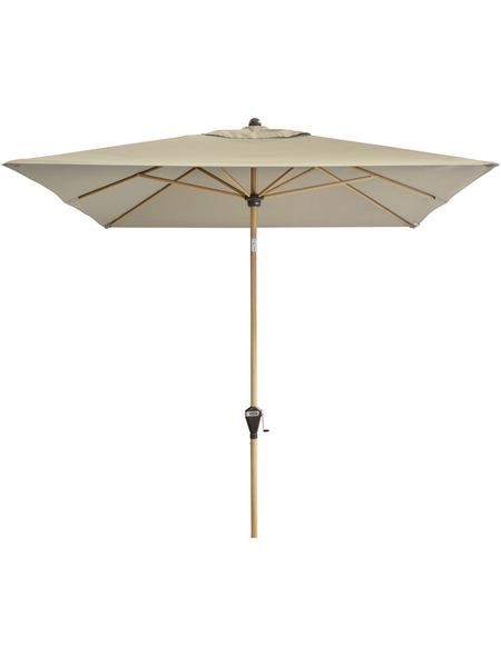 DOPPLER Sonnenschirm »Alu Wood«, BxH: 300 x 200 cm, abknickbar, Sonnenschutzfaktor: 50+