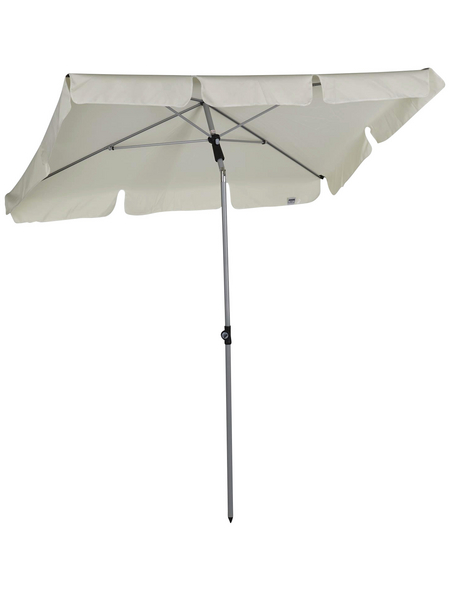 CASAYA Sonnenschirm, Format: 180 x 120 x 232 (B x T x H) cm, abknickbar, Sonnenschutzfaktor: 50+