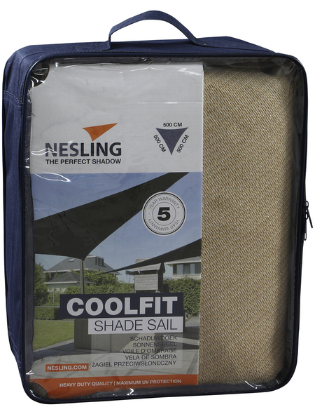 NESLING Sonnensegel »Coolfit «, Format: 500 x 500 cm