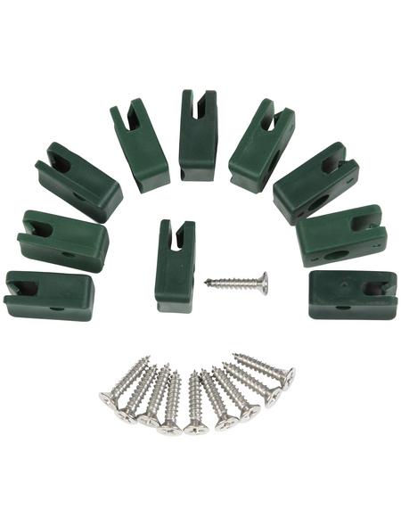 FLORAWORLD Spanndrahthalter, HxBxT: 10 x 2 x 8 cm, grün, für Zaunstabilität