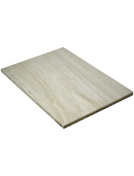 Sperrholzplatte Buche, 2200x1250x8 mm, Buche