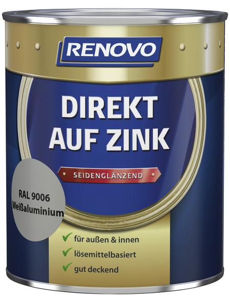 RENOVO Speziallack »Direkt auf Zink«, aluminiumfarben, seidenglänzend
