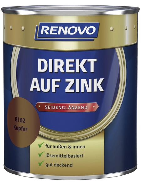 RENOVO Speziallack »Direkt auf Zink«, kupferfarben, seidenglänzend