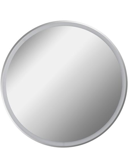 FACKELMANN Spiegelelement, beleuchtet, rund, BxH: 80 x 80 cm