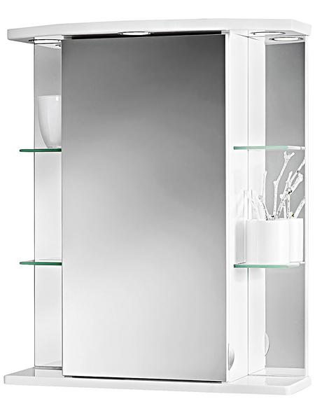 JOKEY Spiegelschrank, 1-türig, LED, BxH: 55 x 66 cm
