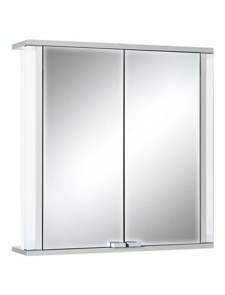 JOKEY Spiegelschrank, 2-türig, BxH: 65 x 66 cm, beleuchtet