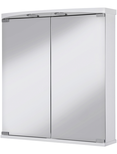JOKEY Spiegelschrank, 2-türig, LED, B x H: 60 x 66 cm