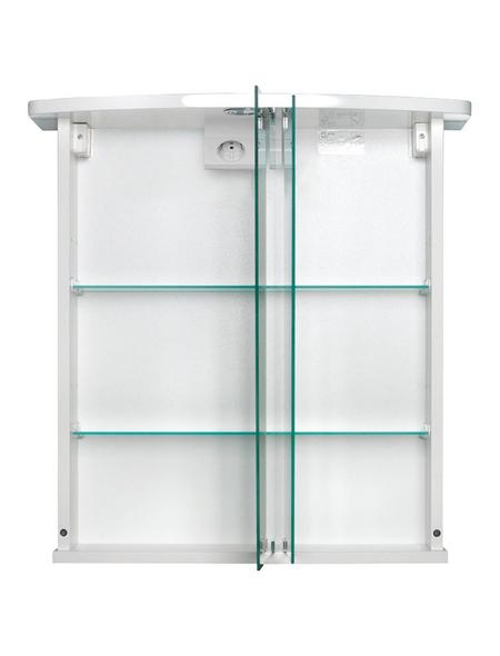 JOKEY Spiegelschrank, 2-türig, LED, BxH: 58 x 59,5 cm
