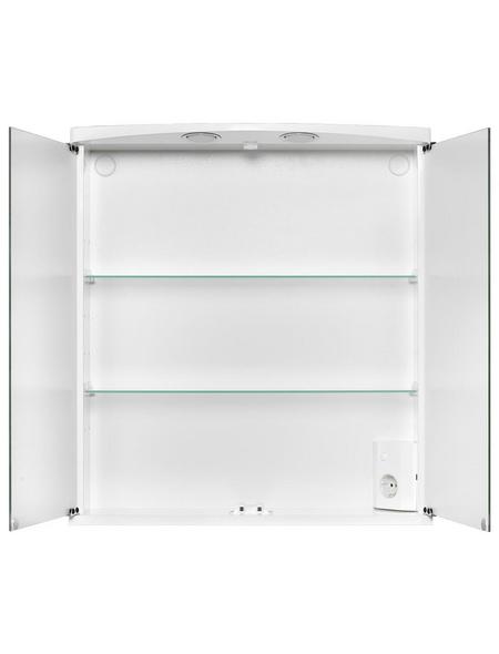 JOKEY Spiegelschrank, 2-türig, LED, BxH: 60 x 66 cm