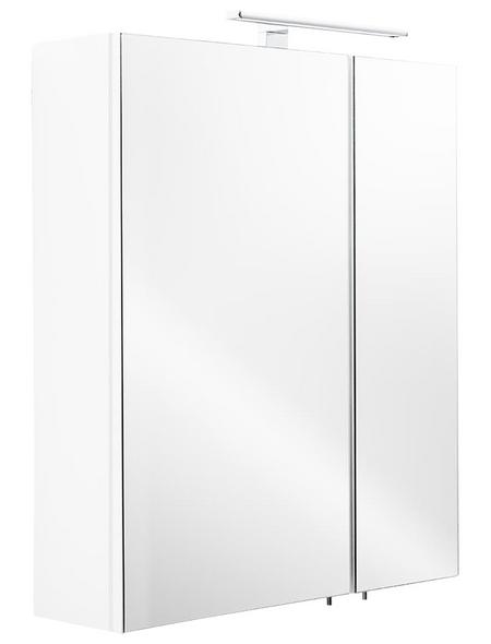 POSSEIK Spiegelschrank, 2-türig, LED, BxH: 60 x 68 cm
