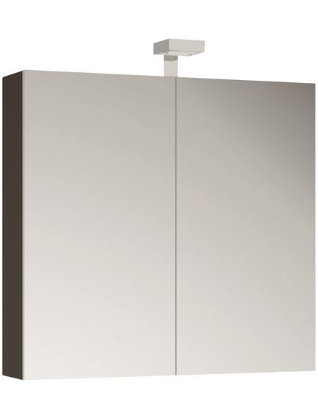ALLIBERT Spiegelschrank, 2-türig, LED, BxH: 80 x 70 cm
