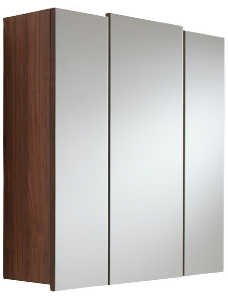 POSSEIK Spiegelschrank, 3-türig, BxH: 70 x 62 cm