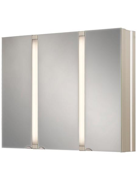 JOKEY Spiegelschrank, 3-türig, BxH: 80 x 65 cm, beleuchtet