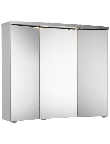 JOKEY Spiegelschrank, 3-türig, LED, B x H: 75 x 65 cm