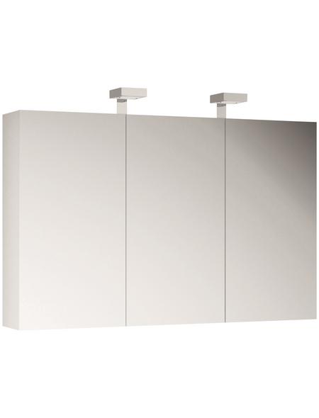 ALLIBERT Spiegelschrank, 3-türig, LED, BxH: 120 x 70 cm