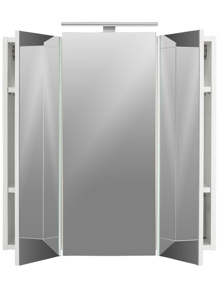 POSSEIK Spiegelschrank, 3-türig, LED, BxH: 70 x 62 cm