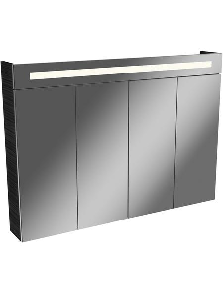 FACKELMANN Spiegelschrank, 4-türig, LED, BxH: 110 x 78,5 cm