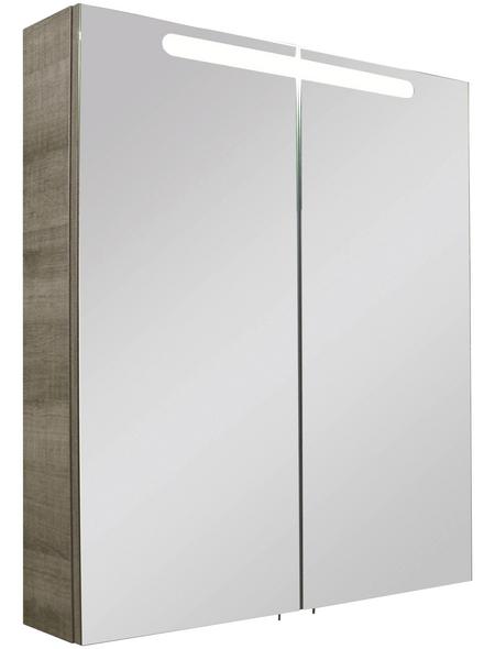 FACKELMANN Spiegelschrank »A-VERO«, 2-türig B x H: 70 x 79,5 cm