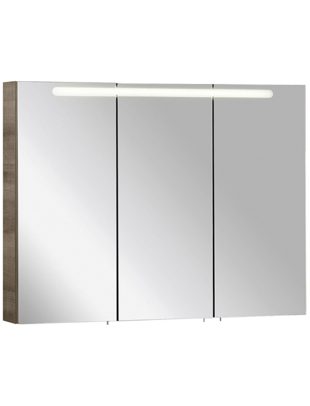 FACKELMANN Spiegelschrank »A-VERO«, 3-türig, BxH: 105 x 79,5 cm, beleuchtet