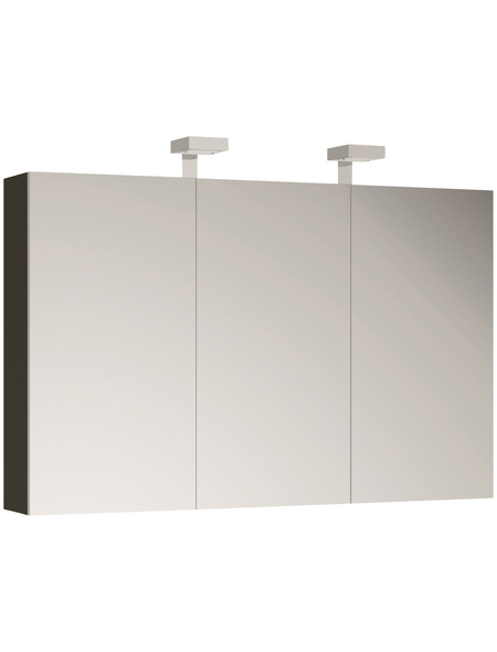 ALLIBERT Spiegelschrank »Allibert«, 3-türig, LED, BxH: 120 x 70 cm