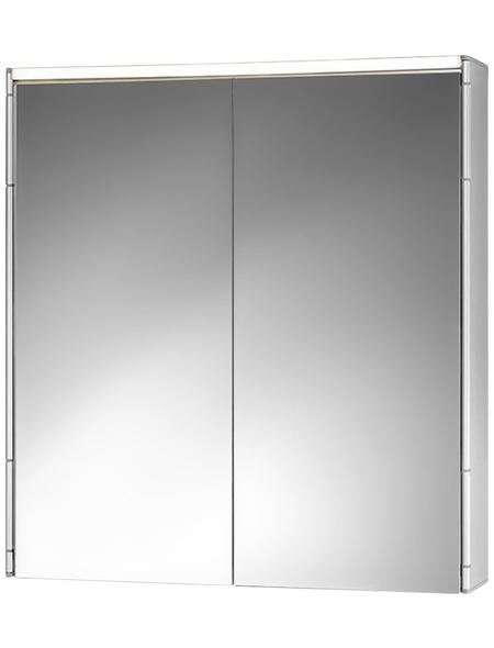 JOKEY Spiegelschrank »ALUeco«, 2-türig, LED, B x H: 58 x 63 cm