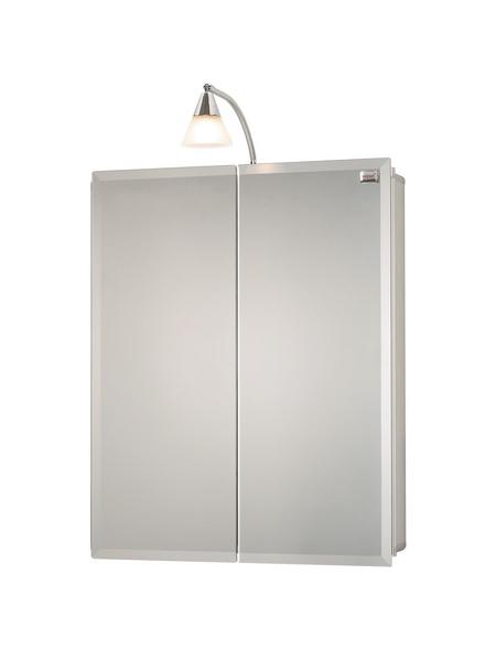 SIEPER Spiegelschrank »Aluhit«, 2-türig, BxH: 53 x 75,3 cm, beleuchtet