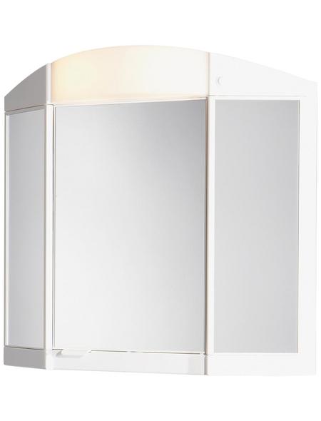 JOKEY Spiegelschrank »Antaris«, 3-türig, BxH: 65 x 60 cm, beleuchtet