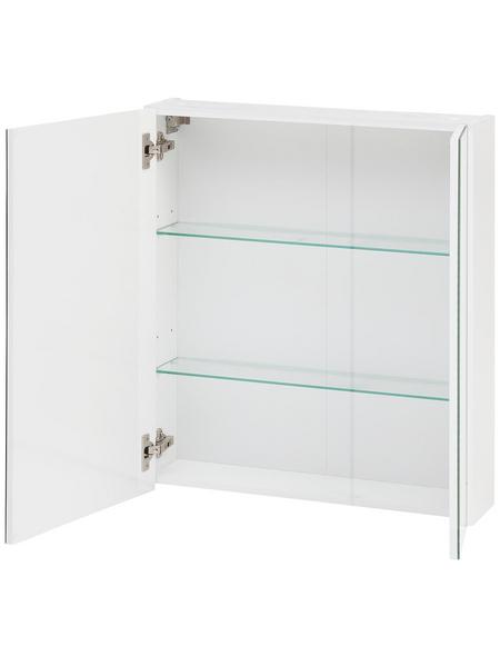 SCHILDMEYER Spiegelschrank »Basic«, Weiß BxH: 60 cm x 71 cm