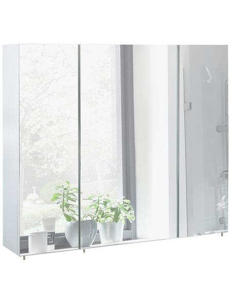 SCHILDMEYER Spiegelschrank »Basic«, Weiß BxH: 90 cm x 71 cm