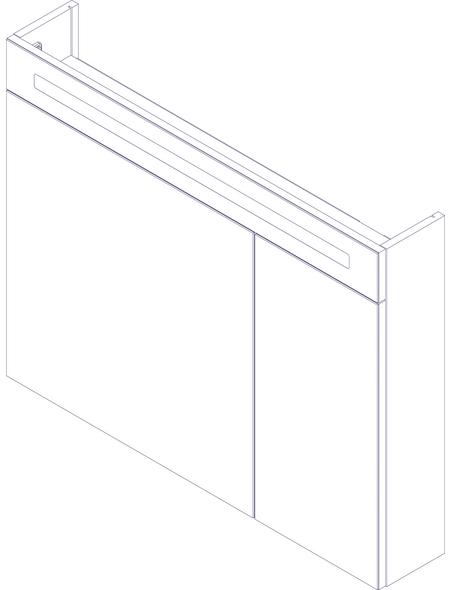 FACKELMANN Spiegelschrank »B.clever«, 2-türig, LED, BxH: 90 x 71 cm