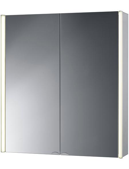 JOKEY Spiegelschrank »Cantalu«, 3-türig, LED, BxH: 67 x 73,5 cm