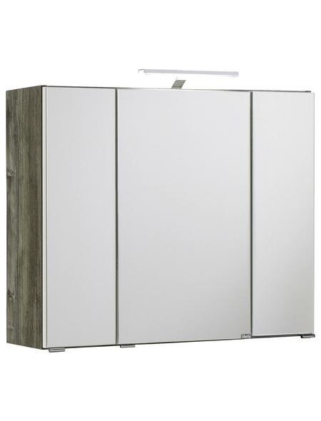 HELD MÖBEL Spiegelschrank »Capri«, 3-türig, LED, B x H: 80 x 64 cm