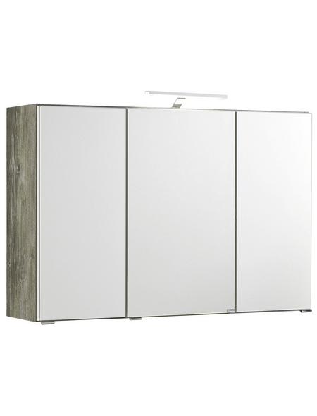 HELD MÖBEL Spiegelschrank »Capri«, 3-türig, LED, BxH: 100 x 64 cm
