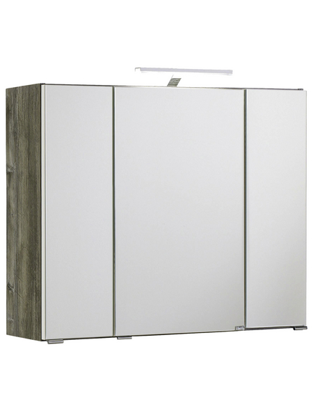 HELD MÖBEL Spiegelschrank »Capri«, 3-türig, LED, BxH: 80 x 64 cm