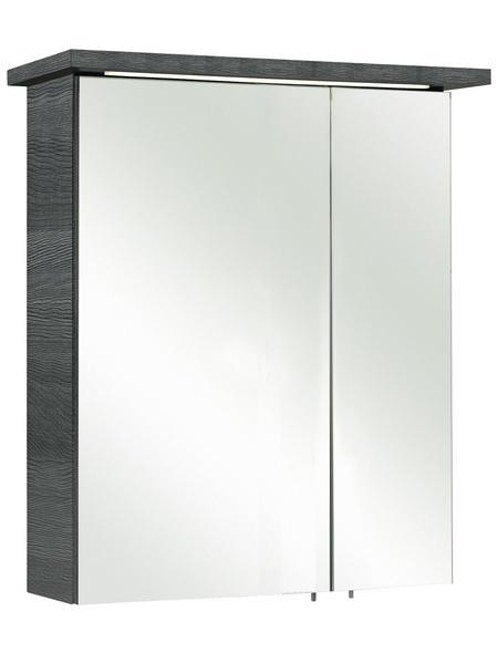 PELIPAL Spiegelschrank »Cesa«, 2-türig, LED, BxH: 60 x 72 cm