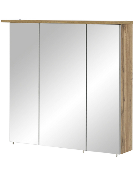 SCHILDMEYER Spiegelschrank »Dabor«, 3-türig, LED, BxH: 80,5 x 72,3 cm