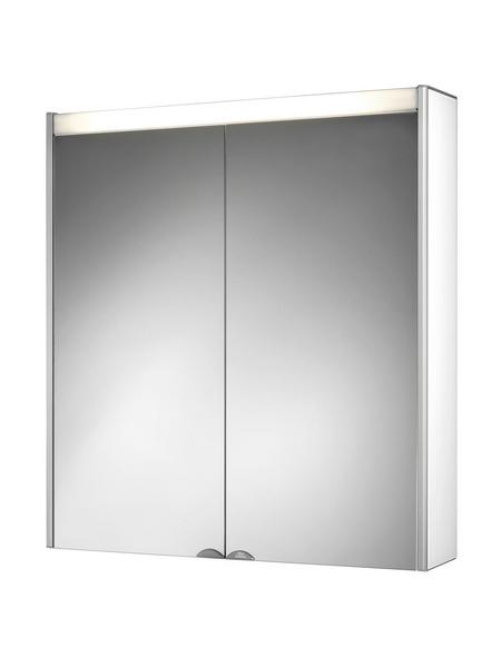 JOKEY Spiegelschrank »DekorALU LS«, 2-türig, BxH: 65,4 x 72 cm, beleuchtet