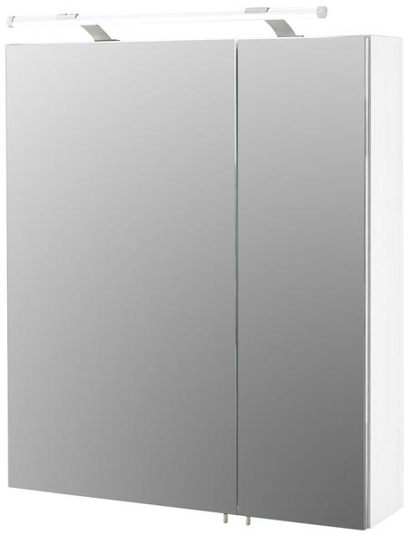 SCHILDMEYER Spiegelschrank »Dorina«, 2-türig, LED, BxH: 60 x 70,7 cm