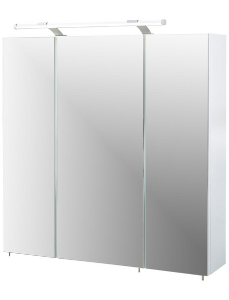 SCHILDMEYER Spiegelschrank »Dorina«, 3-türig, LED, BxH: 70 x 71 cm